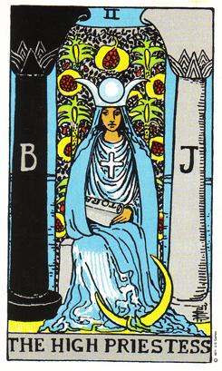 「女教皇」タロットカードの基本的意味と正位置・逆位置