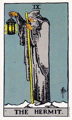 「隠者」タロットカードの基本的意味と正位置・逆位置