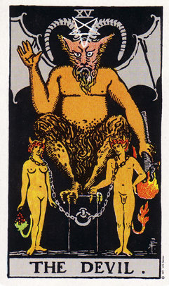 「悪魔」タロットカードの基本的意味と正位置・逆位置