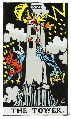 「塔」タロットカードの基本的意味と正位置・逆位置