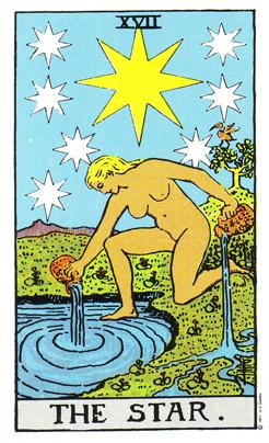 「星」タロットカードの基本的意味と正位置・逆位置