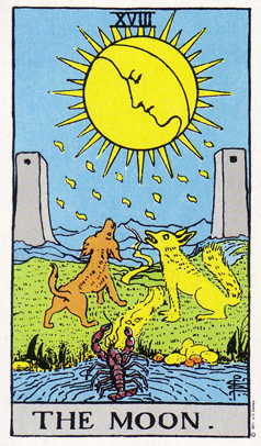 「月」タロットカードの基本的意味と正位置・逆位置