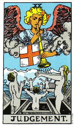 「審判」タロットカードの基本的意味と正位置・逆位置