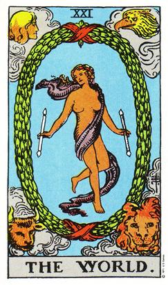 「世界」タロットカードの基本的意味と正位置・逆位置